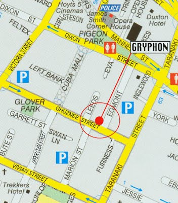 Gryphon Theatre Map